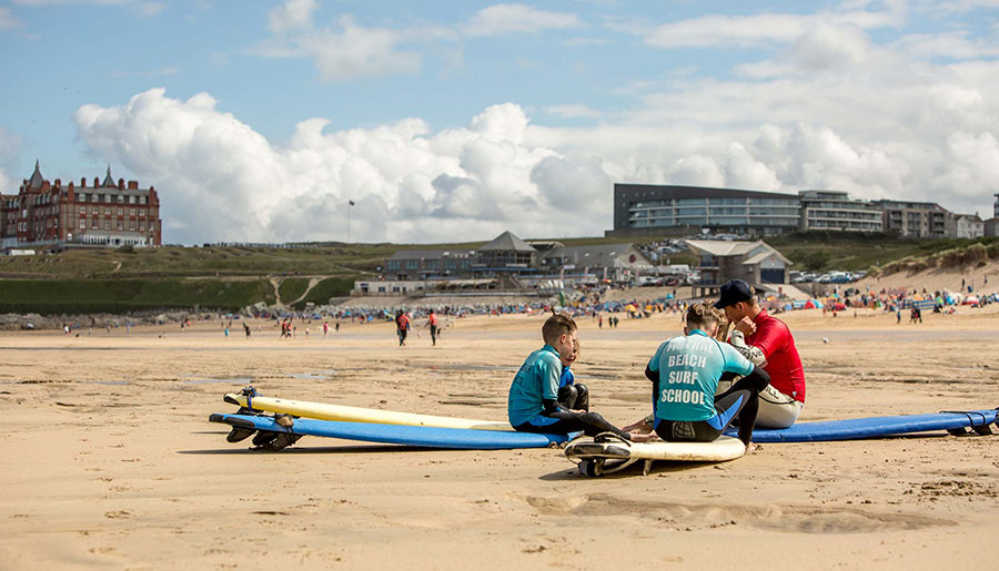 Fistral Beach Surf Lessons