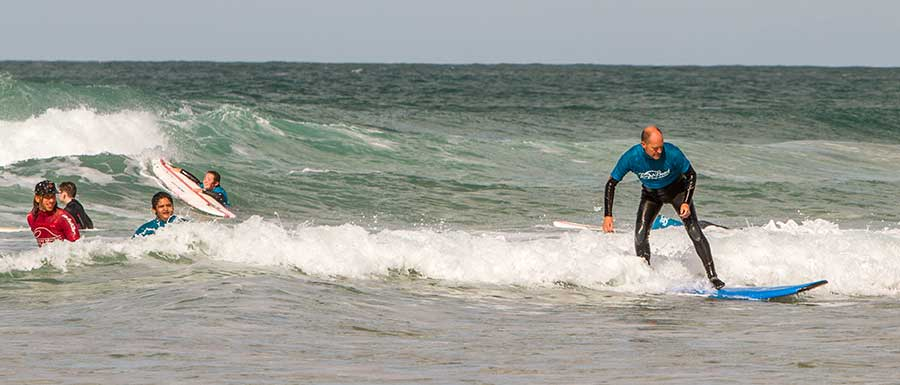 Individual surf lessons Newquay