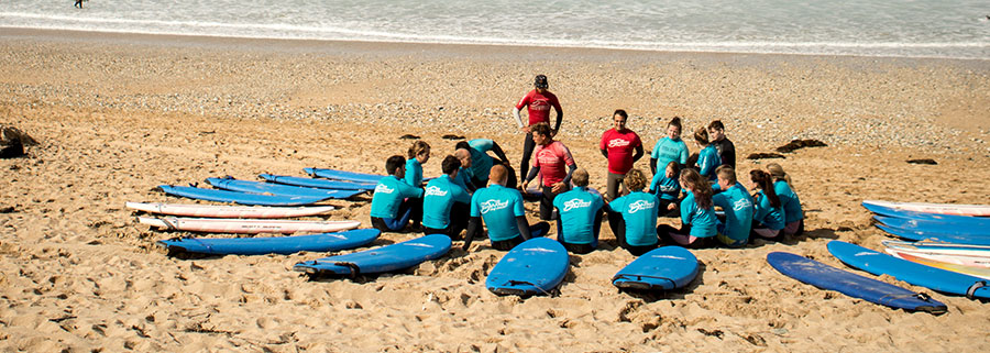 Military group surf lessons