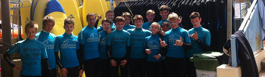 scout group surf lessons