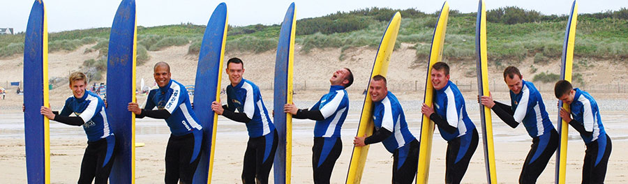 Stag group surf lessons