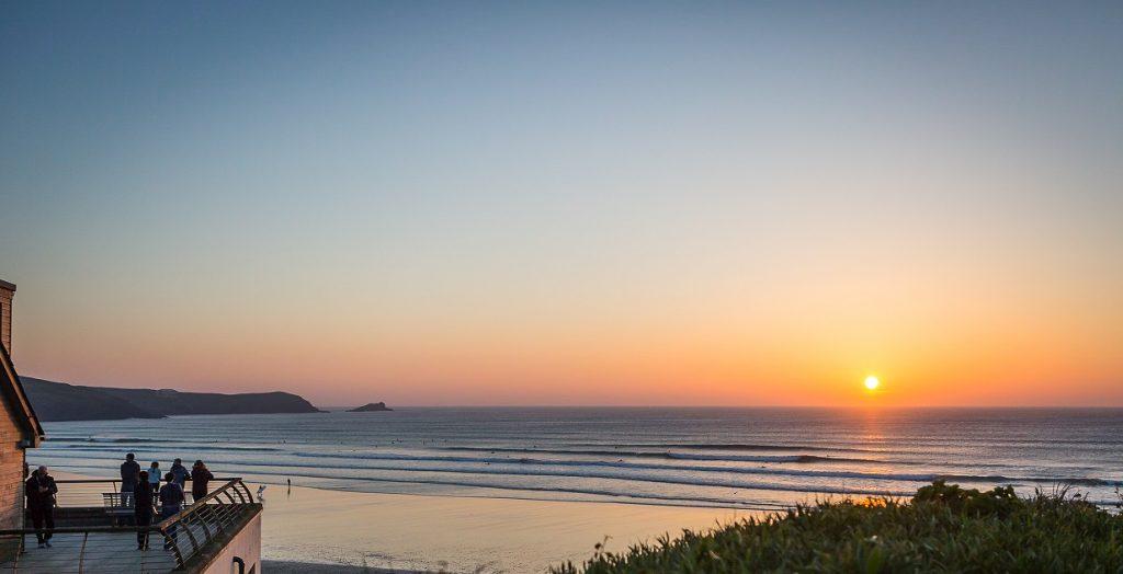 Sunset Surf Fistral Beach